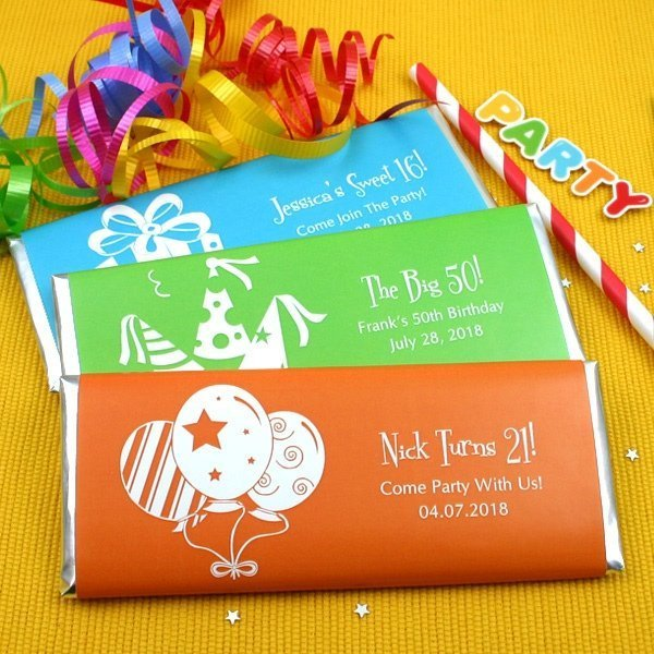 Personalized Birthday Candy Bar Favors