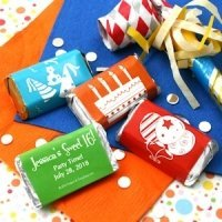 Birthday Party Personalized Mini Candy Bar Favors