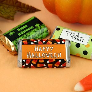 Personalized Halloween Mini Hershey Chocolate Bar Favors image