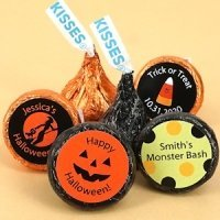 Hershey Kiss Personalized Halloween Candy Favors