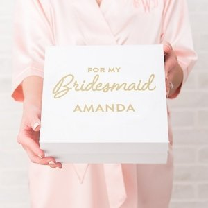 Bridesmaid Premium Gift Box - White or Black image