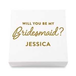 Will You Be My Bridesmaid Premium Gift Box - White or Black image
