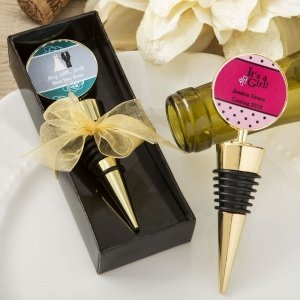 Personalized Expressions Gold Metal Wine Bottle Stopper image
