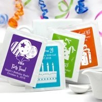 Personalized Birthday Tea Bag Party Favors