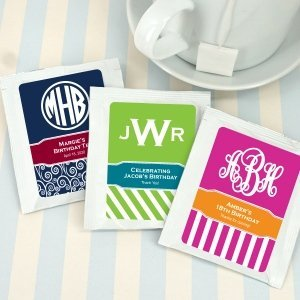Monogram Design Tea Favors image