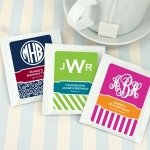 Monogram Design Tea Favors