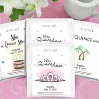 Personalized Tea Party Favors for Quinceanera