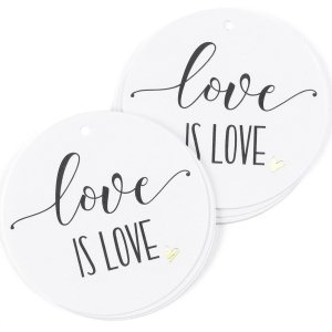 Love is Love Wedding Favor Tag - Set of 25 image