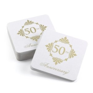 Golden Anniversary Coasters (Set of 25) image