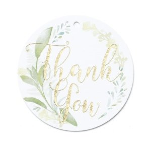 Greenery Thank You Favor Tag - Set of 25 image