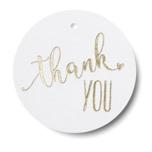 Gold Heart Thank You Favor Tags - Set of 25 image