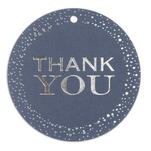 Navy Thank You Favor Tag - Set of 25 image