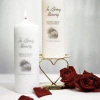 Personalized Memorial Candles for Weddings
