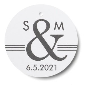 Personalized Ampersand Monogram Favor Tags - Set of 25 image