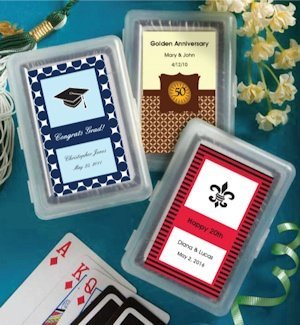 Custom Graduation or Celebration Playing Card Favors image