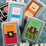 Custom Sweet Celebrations Playing Card Favors