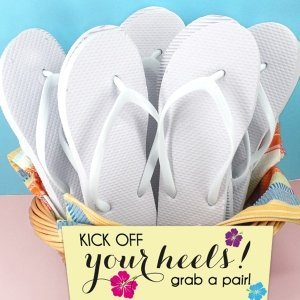 Wedding White Flip Flop Favors (Set of 6) image