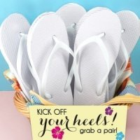 Wedding White Flip Flop Favors (Set of 6)