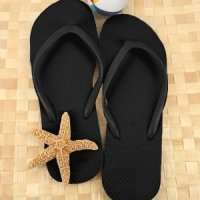 Wedding Black Flip Flop Favors (Set of 16)
