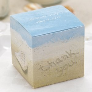 Personalized Seaside Jewel Beach Favor Boxes (Set of 25) image