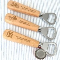 Personalized Wood Handle Bottle Opener Favors