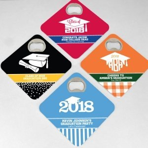 Graduation Design Bottle Opener Coasters image