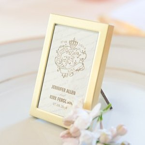 Easel Back Mini Gold Photo Frames (Set of 3) image
