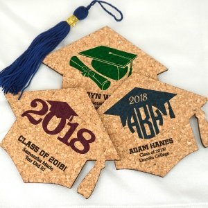 Graduation Cap Cork Coaster Favors image