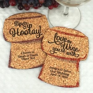 Personalized Cork Stopper Cork Coaster image