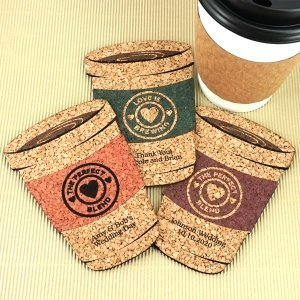 Personalized Coffee Cup Cork Coaster image