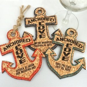 Personalized Anchor Cork Coaster image