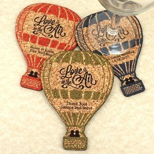 Personalized Hot Air Balloon Cork Coaster image
