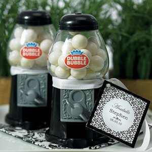 Mini Black Gumball Dispenser Party Favors image