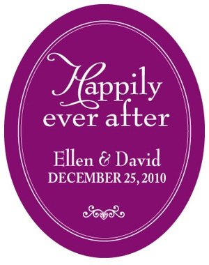 Personalized Happily Ever After Sticker image