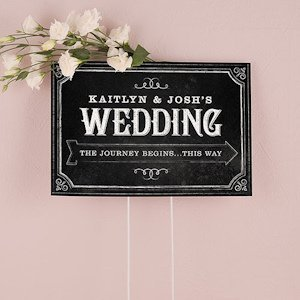Chalkboard Print Design Directional Sign image