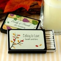 Falling in Love Personalized Black Matchboxes (Set of 50)