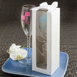 White Gift Box for Personalized Champagne Flute image