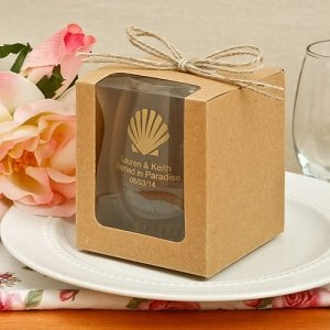 Craft Twine Bow Gift Box for 9oz Stemless Wine Glass image