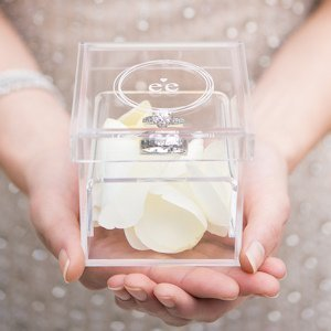 Monogram Simplicity Personalized Alternative Ring Box image