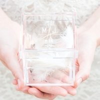 Feather Whimsy Personalized Alternative Wedding Ring Box