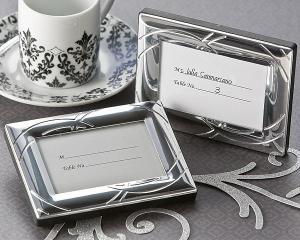 Double Ring Romance Mini Photo Frame OR Place Card Holder image