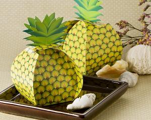 Tropical Treats Oversized Pineapple Favor Box (24 Pack) image