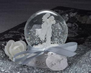 Forever In Love Couple Snow Globe Favor image