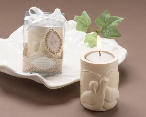 Love and Peace Dove Tea Light Candle Holder Favor image