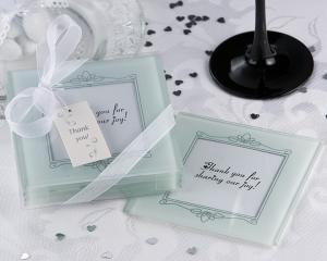 Memories Forever Frosted Glass Photo Coaster (Set of 4) image
