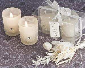 Sparkling Floral Votive Candle Set in Display Box image