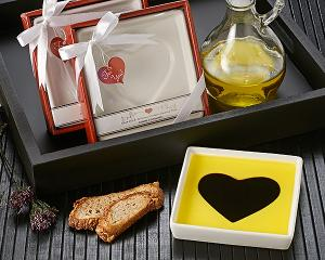 Love Infused Olive Oil and Balsamic Vinegar Dipping Plate image