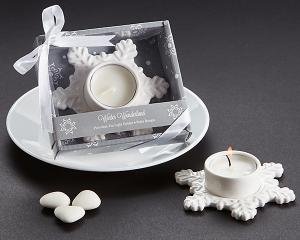 Winter Wonderland Porcelain Tea Light Candle Holder image