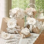Burlap and Lace Accessory Collection