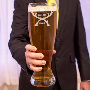 Rustic Antler Personalized XL Beer Pilsner Glass image